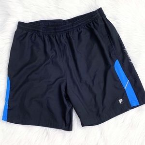 FILA Men's Fitted Shorts Size Large Black Blue